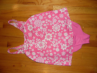 Motherhood Maternity Swimsuit Sz Med Pink & White Floral EXC