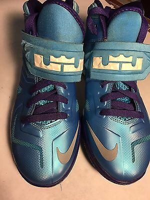 Nike Lebron James Soldier VII Shoes Blue 599818 403 Kids Youth 6Y