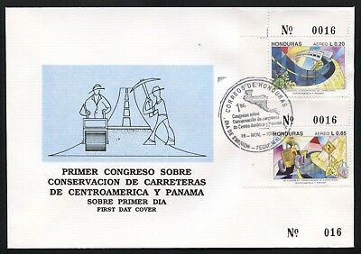 Honduras FDC: Scott #C878-879 Road Conservation Transportation