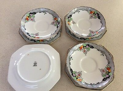4 x Paragon Saucers And Cake plates.... 1920's