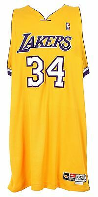 7aceddc2a4e 2002-04 SHAQUILLE O'NEAL, LA Lakers, Game Issued, Home Nike Jersey ...