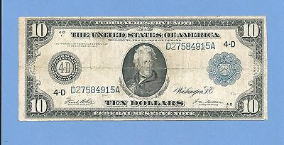 1914  $10 Cleveland Ohio Federal Reserve Note Fr 919-A Very Fine