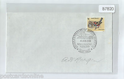 B7820cgtA5 1982 Australia Centenary of Postal Services Wollongong postmark cover