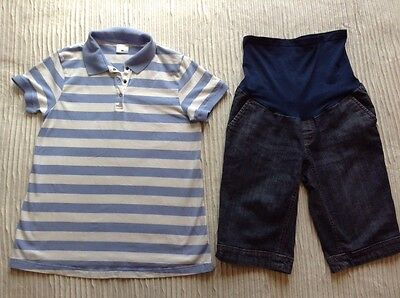 EUC S AMERICAN STAR MATERNITY short Pants & MOTHERHOOD top Great for spring