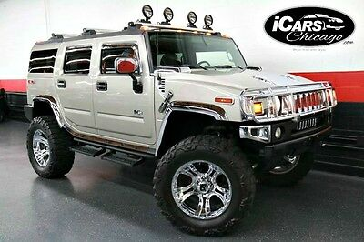 2005 Hummer H2 Base Sport Utility 4-Door 2005 Hummer H2 Lifted Chrome Package Train Horn Upgraded Exhaust Serviced WoW!!