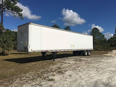 Dry Van Trailer Semi Trailer Good Tires And Brakes Roll Up Door Fiberglass Roof