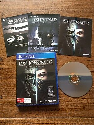 Dishonored 2 Limited Edition PS4 Includes Dishonored 1