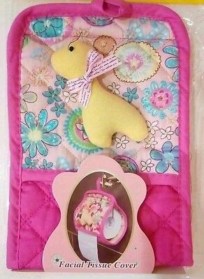 New Floral Flowers Pink Girls Bath Bathroom Toilet Paper Roll Storage Cover Rare