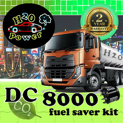 DC8000T HHO DRY CELL HYDROGEN GENERATOR KIT FOR TRUCKS FROM 10,000cc TO 16,000cc