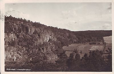 Finland Åland Aland - Country View 1937 postcard cover mailed to Chicago IL USA