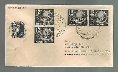 1949 Berlin East Germany DDR Coverto USA 4 # B14