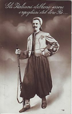 Italy - Soldier 1916 old real photo postcard