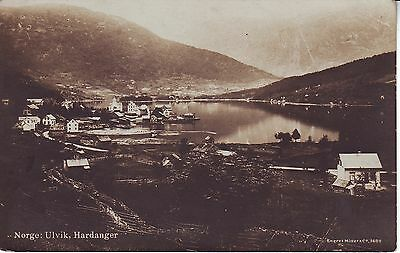 Norway Norge Hardanger Ulvik - Total View old unused real photo sepia postcard