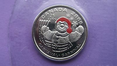 "2006P Canada 25 Cent Coloured ""bon Homme-Winter Carnival""  Pr. Like Sealed Coin"
