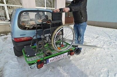 TOW BAR BASKET, REAR LUGGAGE CARRIER BASKET, TOW BALL CARRIER, 300kg CAPACITY