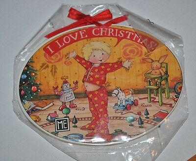 Mary Engelbreit Ornament I Love Christmas Die Cut Paper On Wood 2 Sided Midwest
