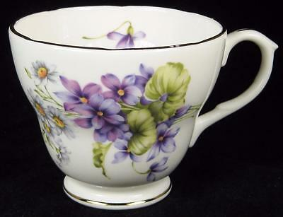 Duchess Purple Violets Flowers Fine Bone China Orphan Cup