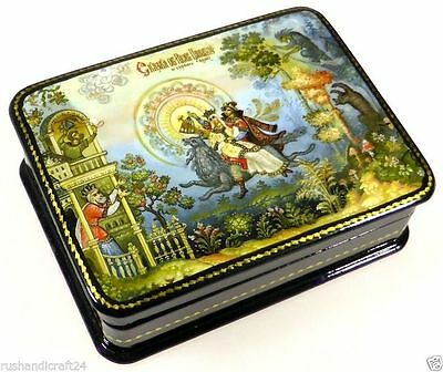 """Iwan Zarjewitsch"" Russische Lackmalerei Schatulle Russian lacquer box Fedoskino"