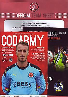 Fleetwood Town v Bristol Rovers 2016-17 programme & team sheet
