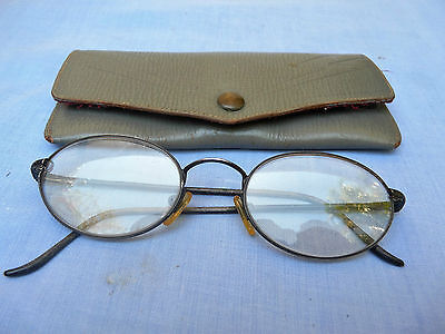 Vintage Glasses Spectacles in leather OPSM Case