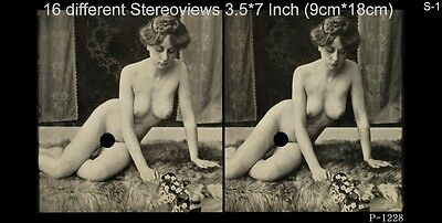 16 artful Stereoviews french Nude 1910 France - Paris ( Lot 1)