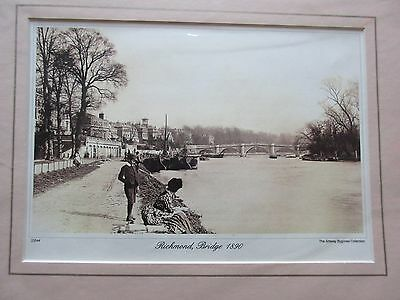 Repro Photo Richmond Bridge Middlesex 1890 Amway Bygones Collection