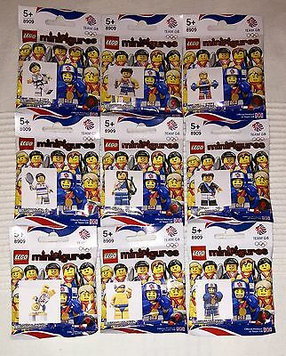 Lego 8909 Team GB Minifigures Complete Set Of 9. Sealed Packets - 2012 Olympics