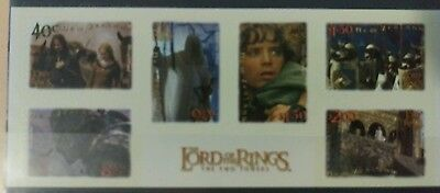N. Zealand  2002 Lord of Rings Two Towers p/s  m/s MUH  c50