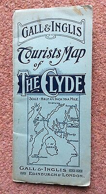 Vintage Gall & Inglis Tourists Map of The Clyde.
