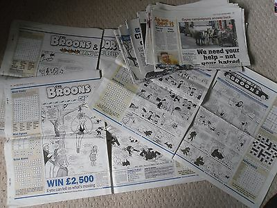 16 x The Broons Oor Wullie Sunday Post Fun Sections 2013/14