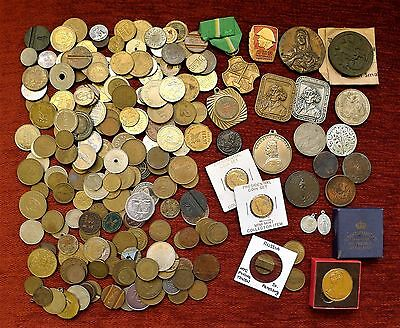 Over 1.3Kg Of Tokens, Medals/medallions + Oddments, British + World.