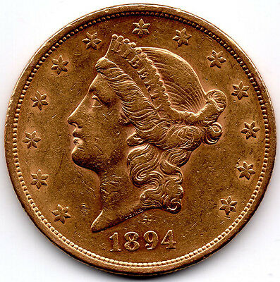 USA Solid Gold DOUBLE EAGLE $20 1894 S Liberty Head.PRICED TO SELL