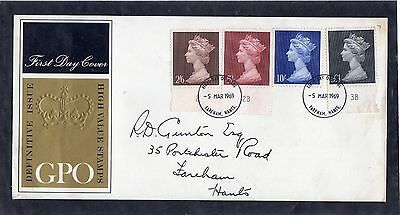 GB 1969 High Value Definitives FDC