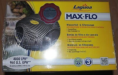 Laguna MAX-FLO 4000  Pump Fountain and Waterfall Pump for Garden Ponds NEW/BOXED