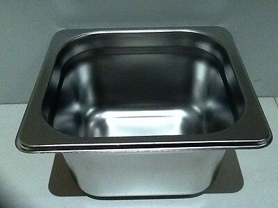 Brand New Stainless Steel 1/6 Food Tray