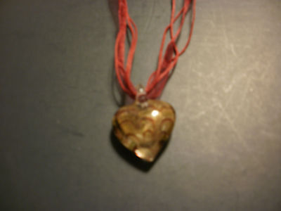 necklace - brown glass