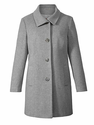 Woll Mantel mit Kaschmir Winter Damen Trench Warm Mantel Jacke Winterjack Gr. 52