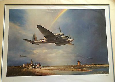 LOW FLYING MOSQUITO  by JOHN YOUNG limited edition print MOUNTED