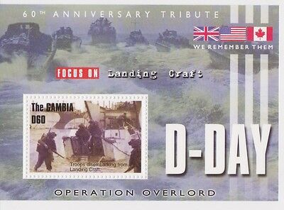 Gambia - World War II, D-Day, 2004 - Sc 2854 S/S MNH