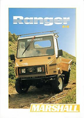 Marshall Ranger A.T.V/Tractor Brochure. Mint Condition. Very Rare Vintage Piece.