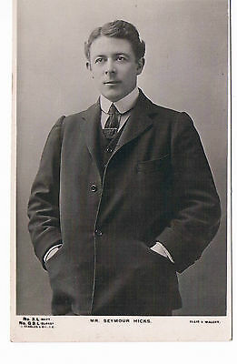 Mr Seymour Hicks  Theatre Actor Vintage Beagle Postcard