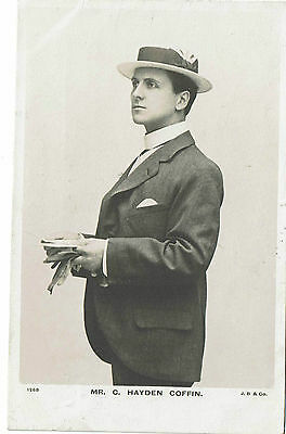 Mr C. Hayden Coffin Theatre Actor  Vintage Rotary Postcard