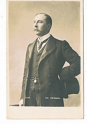 Mr Kendall Theatre Actor Vintage Rotary Postcard