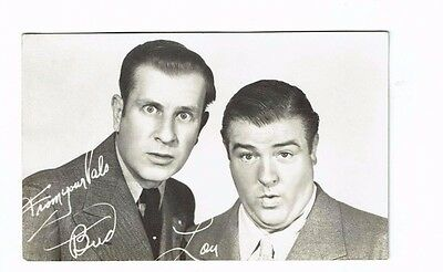 Abbott and Costello Actors Comedians Vintage 1947 Universal Postcard 5 x 3