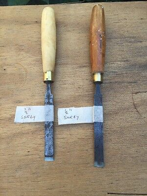 Pair Of Sorby Woodworking Chisels