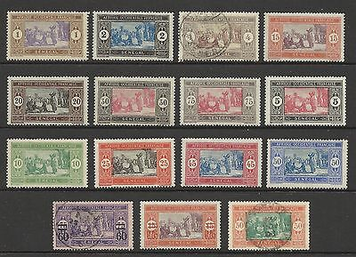 Senegal 1914 / 1922 Selection Mint / Used