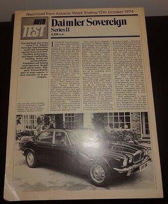 Daimler Sovereign Series II Road Test 1974 Autocar