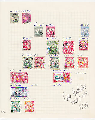 ref. 2586 PAGE BARBADOS MINT AND USED