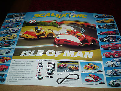 Scalextric Slot Car Catalogue 1990 Isle Of Man Poster Edition V Good For Age