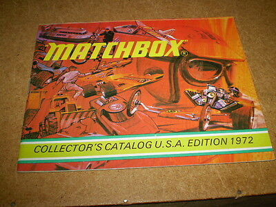 Matchbox Toy Catalogue 1972 Usa Edition Excellent Vn Mint Condition